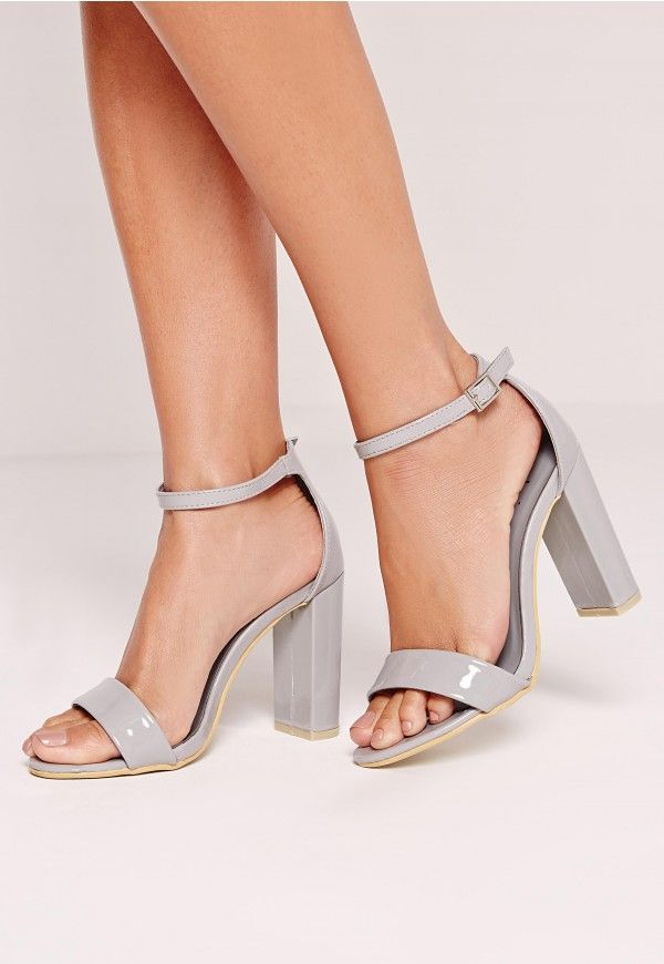 Stay strappy, sassy and a little bit bad assy in these barely there block heels. These simple but effective beauts are a must for any missguided girl and will go with any outfit, score!