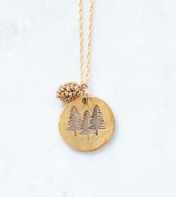 Simple Outdoor Necklace | Nature Jewelry | Pine Tree Necklace | Pinecone Charm