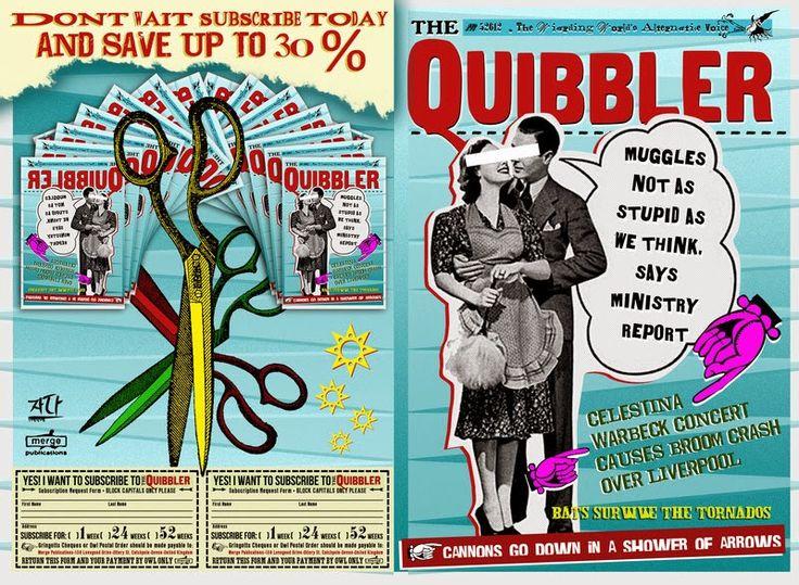 The Quibbler       O editor da revista é o extravagante bruxo chamado Xenofilo Lovegood. Lovegood é contra o Ministerio da Magia e a nature...