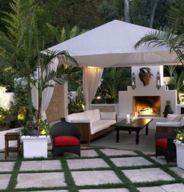 17 best ideas about backyard gazebo on pinterest gazebo for Plans for gazebo with fireplace