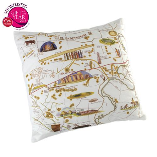 Learn about the history of Stonehenge as you rest with this original cushion created exclusively for English Heritage.
