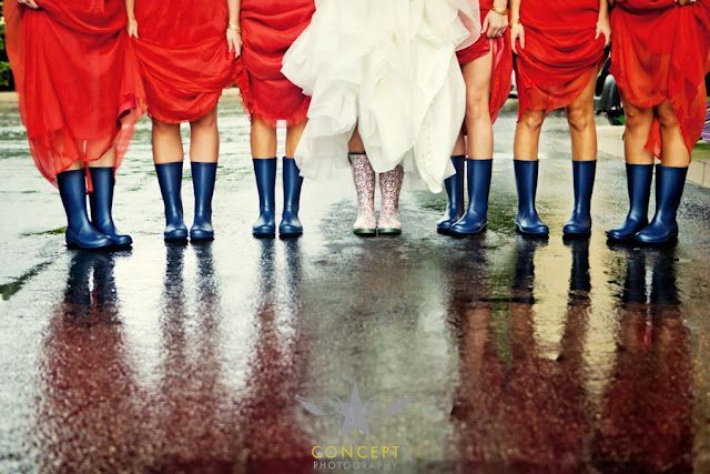 Rain on Your Wedding Day? Could be a great photo:-)