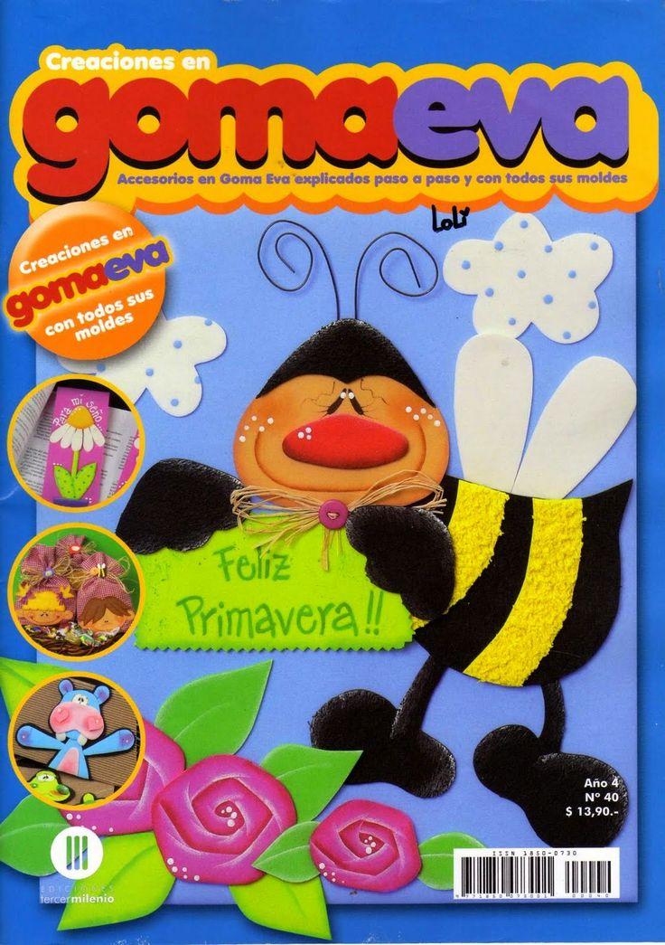 Revistas de manualidades Gratis: Manualidades paso a paso en Goma Eva
