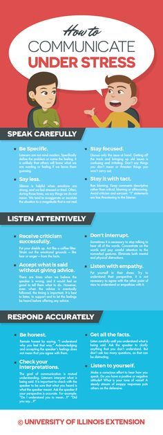 How to Communicate Under Stress #tips Repinned by SOS Inc. Resources pinterest.com/sostherapy/.