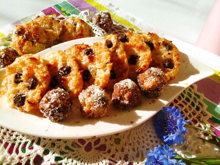 Ragacsos csokoládés kókuszcsók - gluténmentes http://mediterran.cafeblog.hu/2017/05/19/5-perces-gyors-finomsag-ragacsos-csokolades-kokuszcsok/