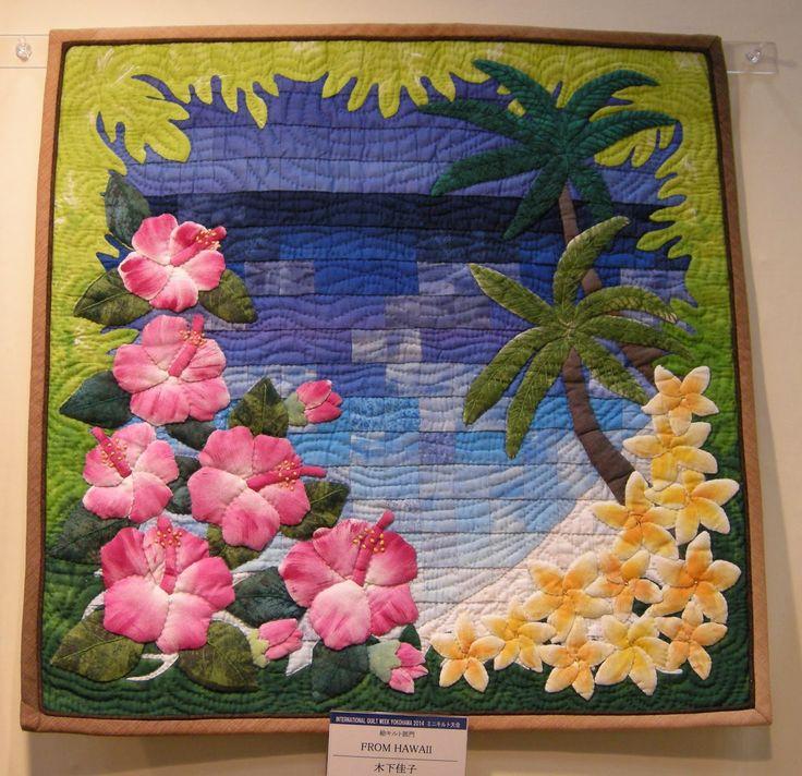 'FROM HAWAII' by Yoshiko Kinoshita. 2013 Yokohama International Quilt Show.  Photo by QueeniePatch.