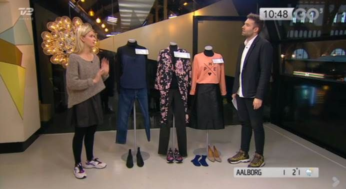 Cool Frederikke from Fredesblog.dk in our Muffi De Luxe knit on national TV #objectfashion
