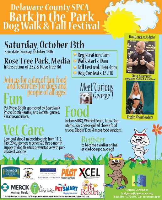 Bark in the Park & Fall Festival 2012: October 13th!