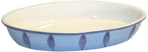 """Caleca Bluemoon large oval baking dish by Caleca. $60.78. Indigo blue, sky-blue and apple green Caleca pattern """"Bluemoon"""" that creates strong effects of Mediterranean nature and the ocean atmosphere of Sicily in its design; Ideal for that impressive presentation at the table.. Dishwasher safe; microwavable. Includes one art; 354 large oval baking dish. Chip-resistant. All natural majolica/ceramic components individually hand-painted with non-toxic glazes and c..."""