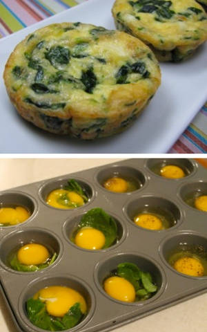Egg and Spinach muffins