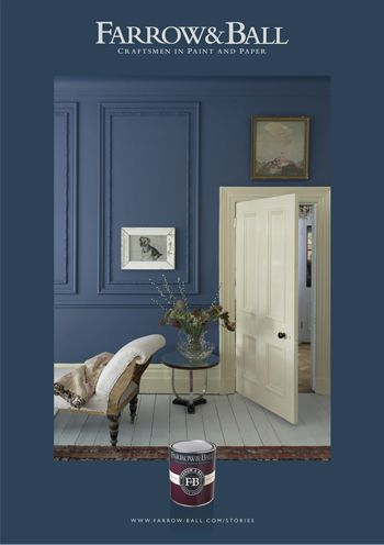 For master bedroom.  Stiffkey Blue wall - Farrow & Ball