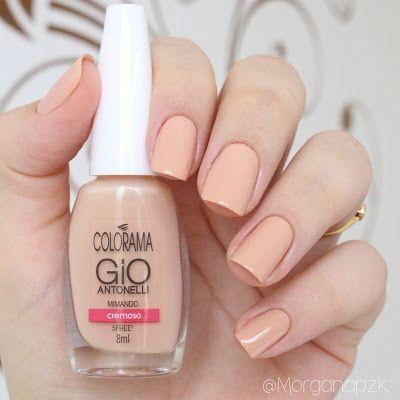 Esmalte Mimando da Gio Antonelli para Colorama. Unhas nude. Nude nails. Nail art. Polishes. Polished. Beautiful. by @morganapzk