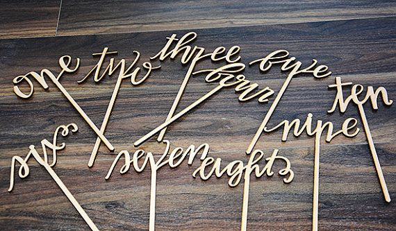 Wedding table number wooden table numbers rustic by LASERDESIGN1