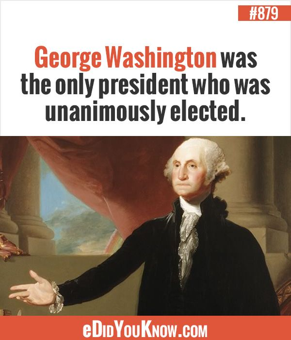 George Washington Was The Only President Who Was Unanimously Elected