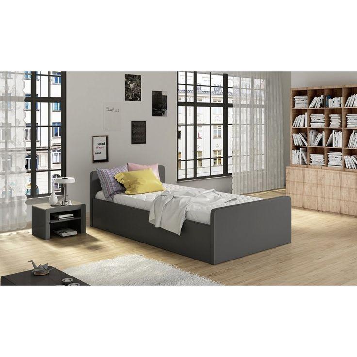 Minimalistyczne łóżko tapicerowane Orlando