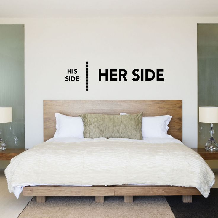 Details about His Side Her Side. His & Hers Bedroom Wall Sticker / Decal…