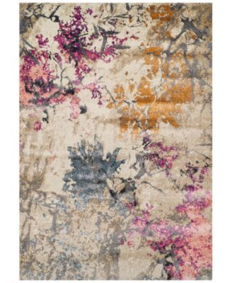 Dalyn Modern Abstracts Impressions Ivory 53 X 77 Area Rug