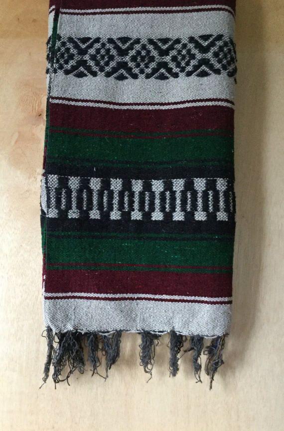 Vintage Mexican Baja Falsa Blanket Throw by ForestaVintage on Etsy