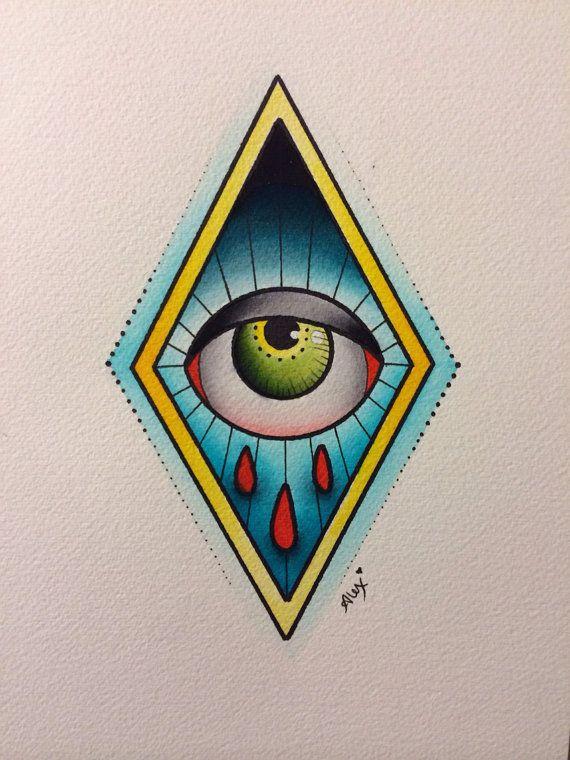 Original Eye Painting by Alex Strangler by AlexStrangler on Etsy, $60.00