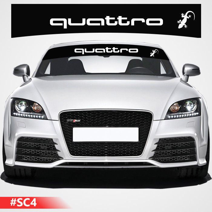 For AUDI MOTORSPORT VINYL STICKER German Flag Windshield Windscreen DECAL JDM