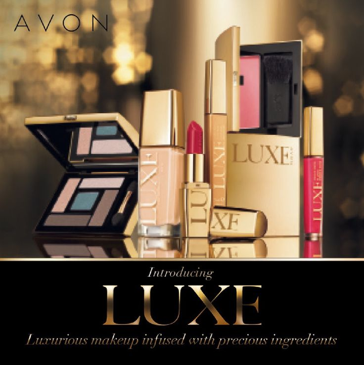 Introducing Luxe, the luxurious new brand of cosmetics from Avon.