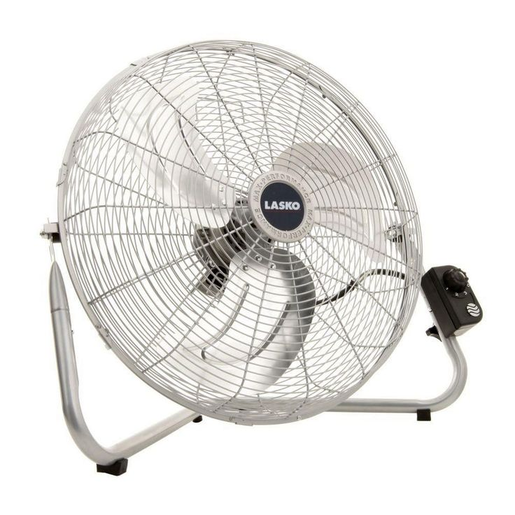 20 In. High Velocity Floor Wall Mount 3 Speed Commercial Industrial Chrome  Fan