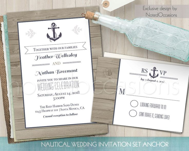 2566 best Nautical Wedding Invitations images on Pinterest