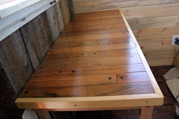 table made from old hardwood floor | Recycled & Upcycled Things | Pin ...
