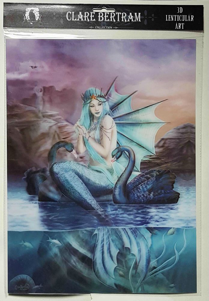 BrandNew Licensed 3D Lenticular Art Clare Bertram Goddess Oceanis Mermaid Print
