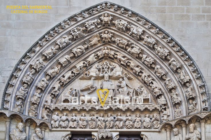 Puerta del Sarmental, tímpano. Catedral de Burgos