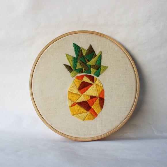 Quadro Bastidor abacaxi
