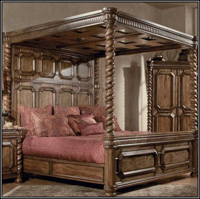 1000 Ideas About King Size Canopy Bed On Pinterest