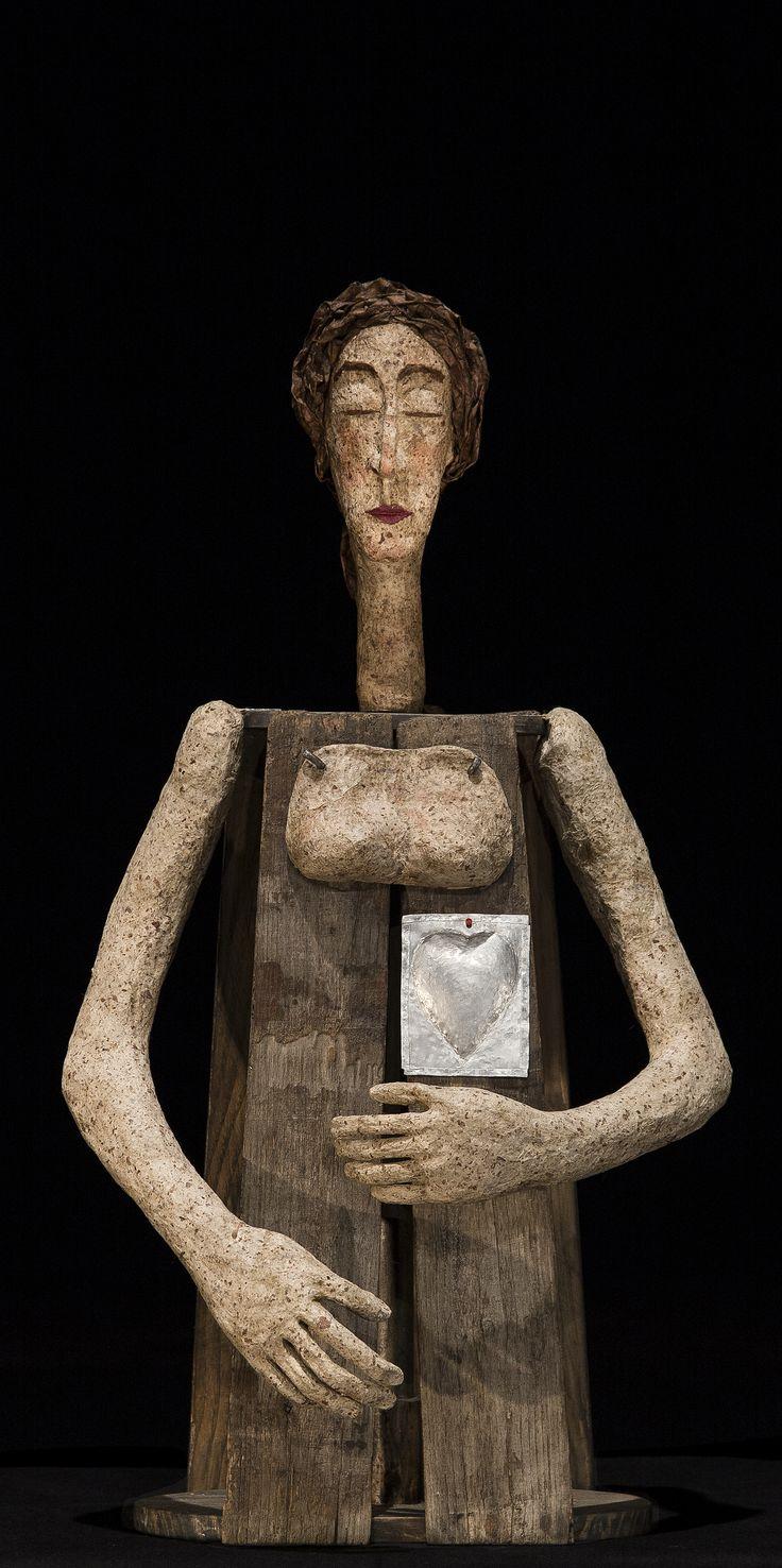 Alma.cartapesta legno.Donatella Pau 2014