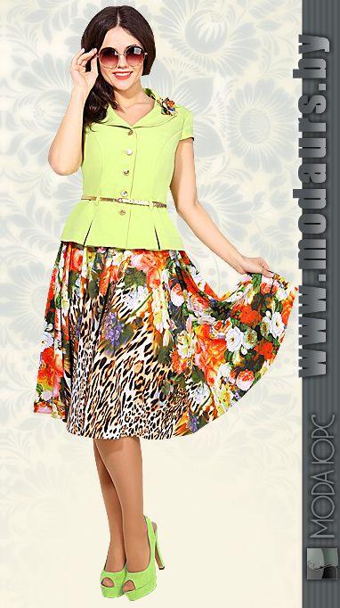 Комплект юбочный летний  от Мода-Юрс.    Купить наши изделия в розницу http://www.modaurs.by/gde_kypit_internet.html   #модаюрс #modaurs #костюм #сюбкой #трикотаж #оптом #мода #fashion #белорусскийтрикотаж #белорусскаяодежда #совместныепокупки