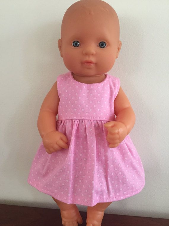 Pink Spots Summer Dress by DebsDollsClothes on Etsy