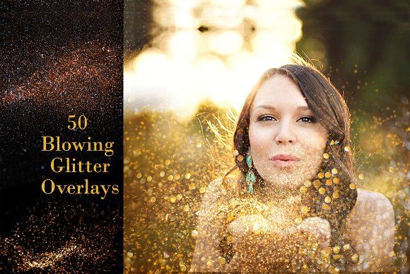 50 Blowing Glitter Overlays By Creativeland On Creativemarket Blowing Glitter Photoshop Overlays Glitter Overlays