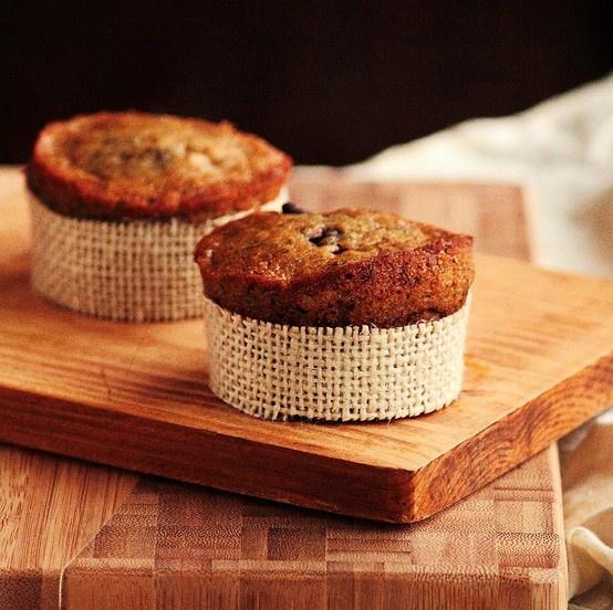 Banana espresso chocolate chip muffins | Yummo! | Pinterest
