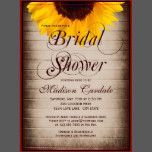 """The """"Bridal Shower"""" wording is very large and in script.  This part of the wording is part of the background and cannot be edited. (contact me if you need another color).  These are great for country brides-to-be and anyone who loves a rustic or vintage distressed look and are using sunflowers in their wedding decorations or bouquets.                  rustic, country, bridal shower, brown, vintage, distressed, barn wood, rustic wood, elegant, old, antique, western, cowboy, barn wedding…"""