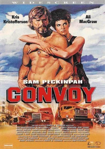 70's Trucker Movie Convoy starring Kris Kristofferson, Ali MacGraw & Ernest Borgnine