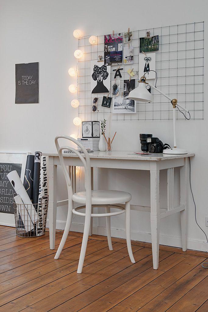 Espacio de trabajo con panel moodboar inspiration lisa bengtsson decoratualma dta