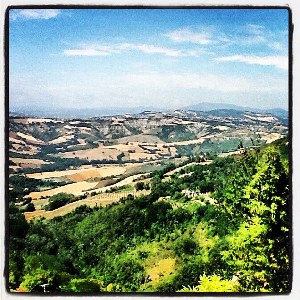 """""""The Rimini countryside blew me away yesterday... Wild rolling hills, green fields, hay bales"""" -by @TravelWithKat, via Instagram"""