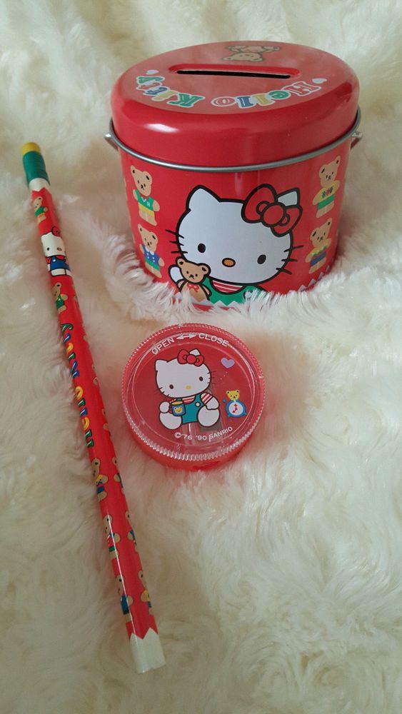 93e1baabb83b Vintage Sanrio Hello Kitty Tin Bank