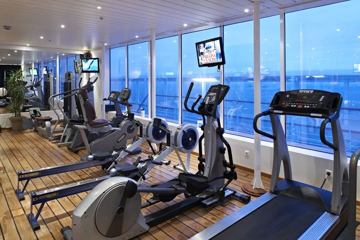 Keep fit during your cruise holiday. The well-equipped fitness centre on board Boudicca has everything you could need from treadmills, rowing machines and weights for those energetic types, including a dance floor for aerobics sessions and dance lessons. Fred. Olsen Cruise Lines.