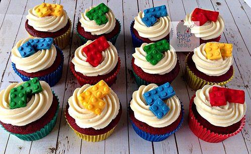 Lego themed cupcakes   Sophia Mya Cupcakes   Flickr