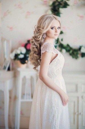 свадебные прически из локонов