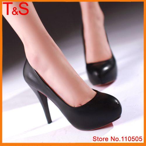 Обувь Женщины Насосы Круглым Носком На Высоком Каблуке Каблуки Белые Свадебные обувь Тонкие Высокие Каблуки Обычная Женская Обувь Черный Размер 34-39 6706