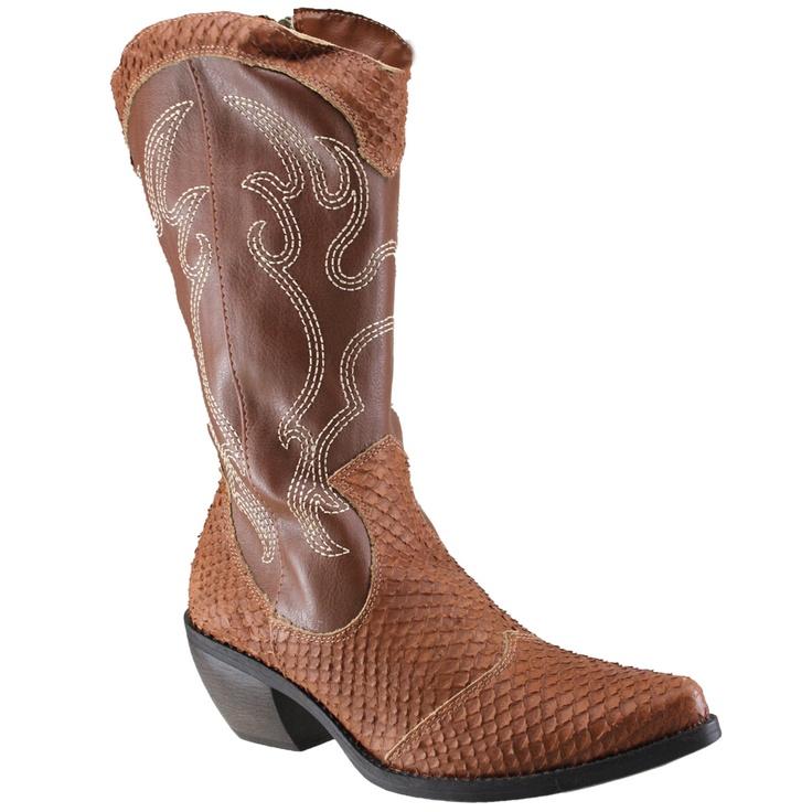 Bota Cravo e Canela 85404 - Whisky (New Snake) - Calçados Online Sandálias, Sapatos e Botas Femininas   Katy.com.br