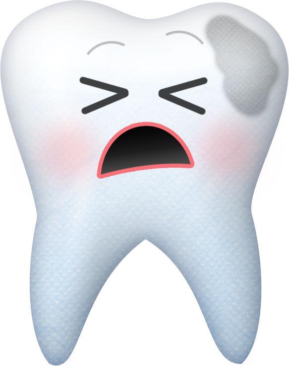 tooth w/ cavity