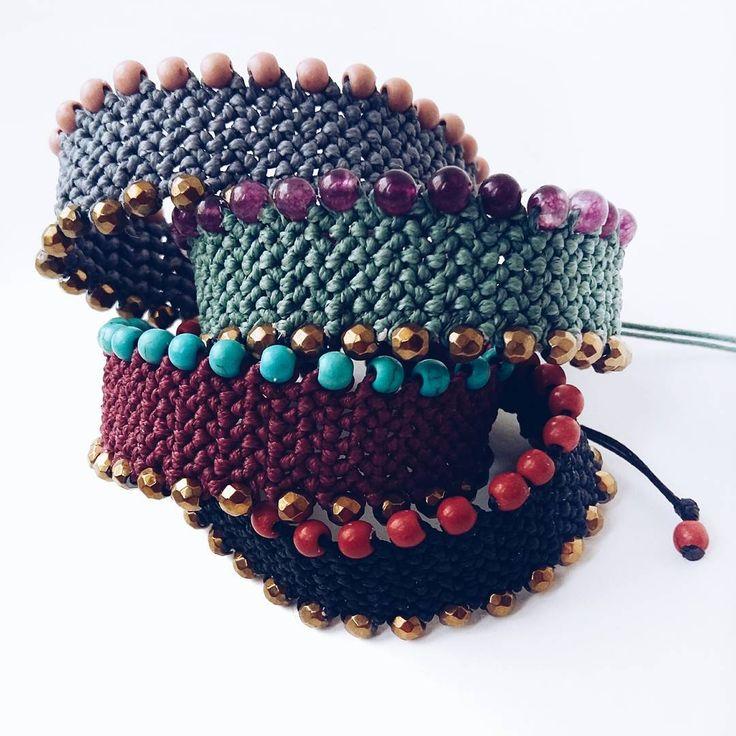 Gems➕threads❤#ohsocutethings #handmade #jewelry #greekdesigners #greekdesigner…