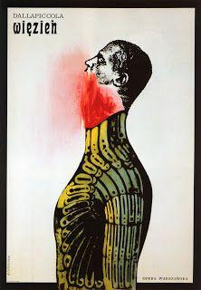 "Roman Cieslewicz - Affiche opéra ""Dallapiccola"" (1962) - Italie."